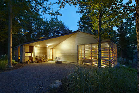 Eco-Friendly Cedar Cabins - The Stealth Cabin Combines Modern and Traditional Design Philosophies