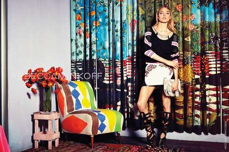 Clashing Urban Lookbooks - The Rebecca Minkoff Spring/Summer 2014 Campaign is Vibrant