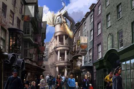 Sorcerer Theme Park Extensions - The Wizarding World of Harry Potter Expansion Includes Hogsmeade