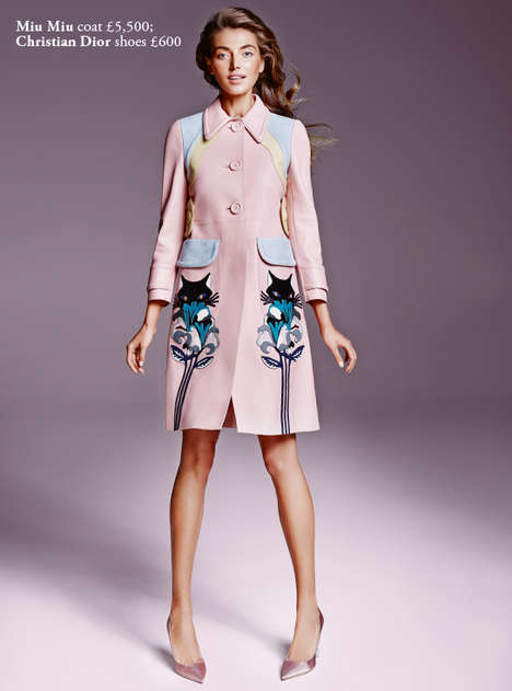 Haute Pastel Shoots - The Harrods Magazine February