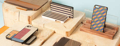 wood and leather accessories
