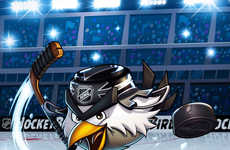 Angry Avian Hockey Mascots