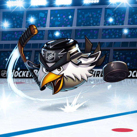 Angry Avian Hockey Mascots - HockeyBird is Leaving His Angry Bird Friends and Joining the NHL