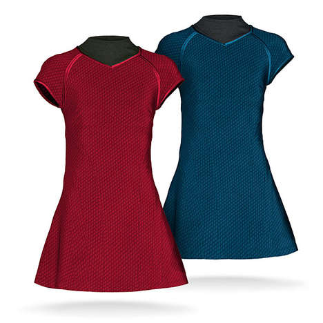 Chic Trekkie Tunics - These Star Trek Tunic Dresses are Available Through ThinkGeek