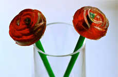 Floral Shaped Jello Shots - The Pomegranate Rose Jello Shots Make the Perfect Gift for a Valentine