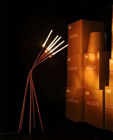 Reed-Like Lighting - The Herba Lamp by Atelier Marko Brajovic is Made of Stalks of Copper Tubes