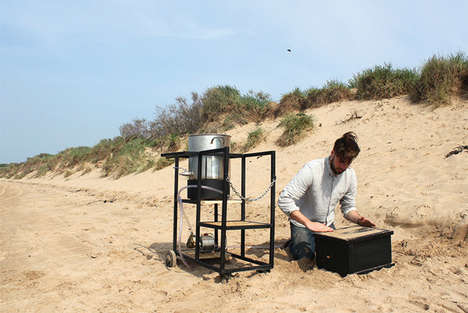Urine-Infused Furniture - Microbial Manufacture by Peter Trimble Uses Sand and Urea