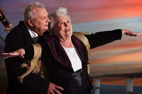 Elderly Movie Tributes - The Contilia Retirement Group 2014 Calendar Reinterprets Old Hollywood