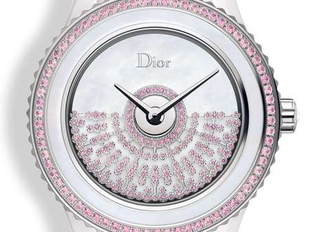 Posh Pink Studded Timepieces - The Dior VIII Grand Bal Resille Watch is Pretty In Pink