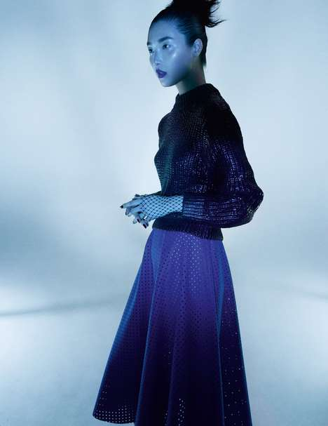 Covered Up Couture Editorials - Benjamin Lennox Captured Sung Hee for Numéro China January 2014