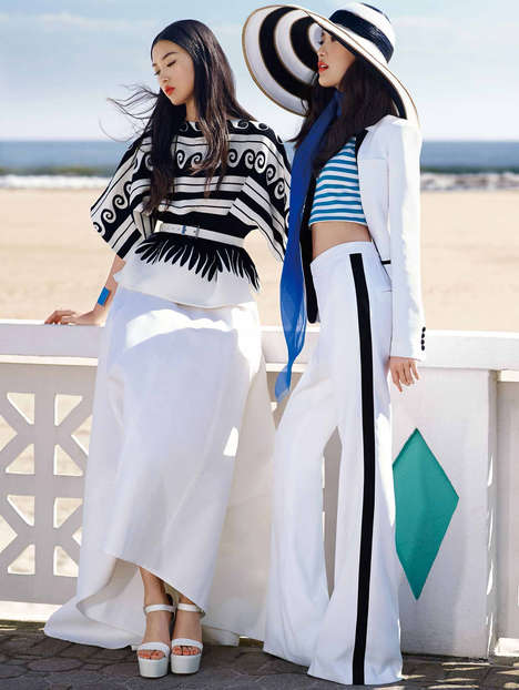 Nautical Sister Editorials - KT Auleta Shot Shu Pei Qin and Tian Yi  for Vogue China January 2014