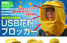 USB-Powered Pollen Masks - This Pollen Mask Keeps You Collected While You Tend to the Bees