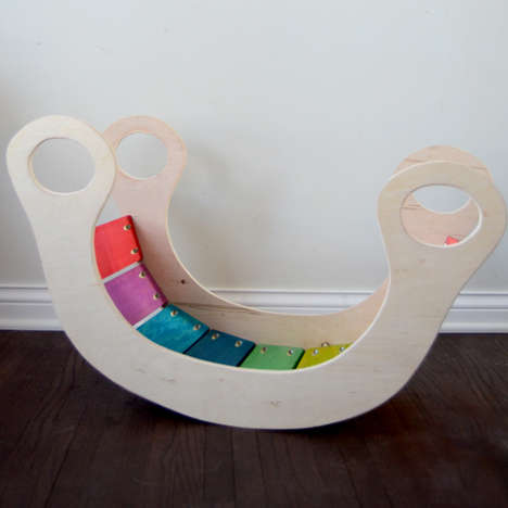 Chromatic Rocker Toys - The DIY Rainbow Rocker is a Great Way to Get Little Tots Active