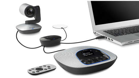 Quality Condusive Conference Webcams - The Logitech ConferenceCam CC3000e Has High Resolution Lenses