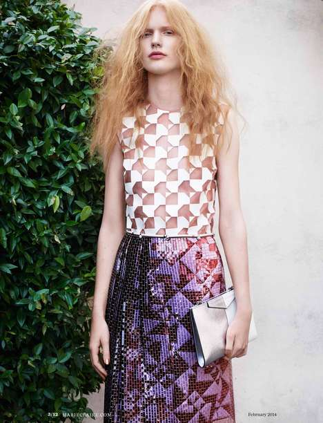 Fabulously Frizzy Editorials - Markus Pritzi Shot Anniek Kortleve for Marie Claire US February 2014