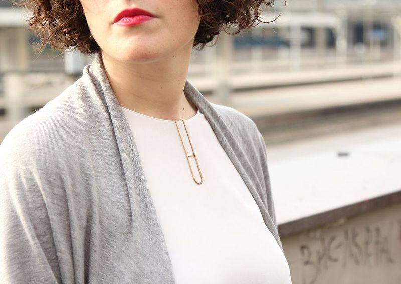 Pin-On Paperclip Pendants