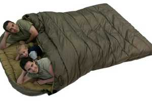 This Family Size Sleeping Bag is Ideal for Families Camping Outdoors
