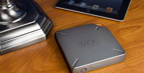 Massive Storage Tablet Peripherals - The Lacie Fuel Hard Drive Provides Enormous Wireless Storage
