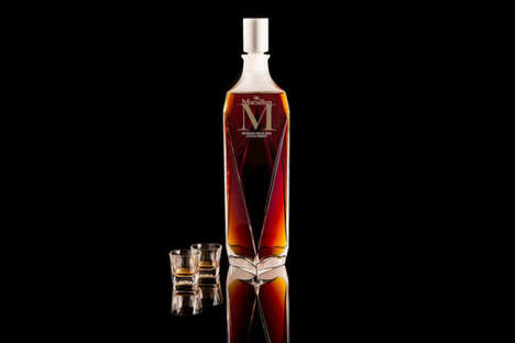 "$630,000 Whiskey Bottles - This Macallan ""M"" Decanter Holds the World"