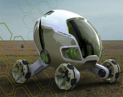Egg-Like Animal Rescue Vehicles - The Incubator Concept Car is Designed to Transport Sick Animals