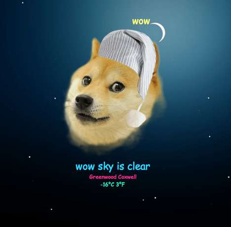 Internet Dog Weather Forecasts - The Doge Weather Site Plays Up the Doge Meme with Broken English