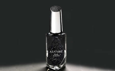 $195,000 Diamond Nail Polishes - The Azature Black Diamond Nail is Luxury for Your Fingertips