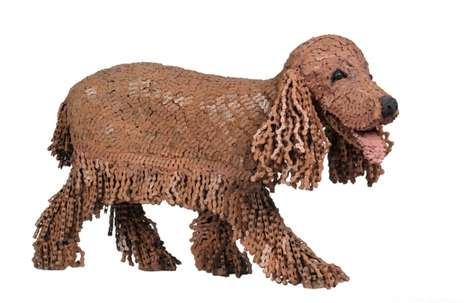 Bicycle Chain Dog Sculptures - These Realistic Dog Sculptures Are Made Entirely of Bicycle Chains