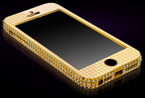 13 Glamorously Gold Smartphones - From Golden Skull iPhones to Gold Adorned Phone Shells