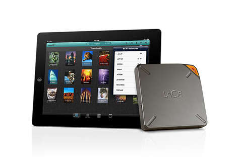 Compact Portable Media Streamers - LaCie Fuel Brings Up to a Terabyte of Content with You Anywhere