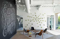 Modernized Chalkboard Workspaces