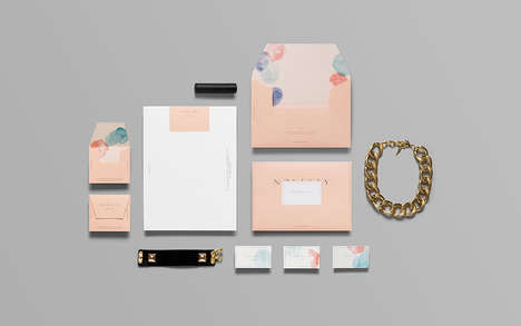 Pastel-Infused Boutique Branding - The Delicate Branding Used for Novelty is Both Soft and Eclectic