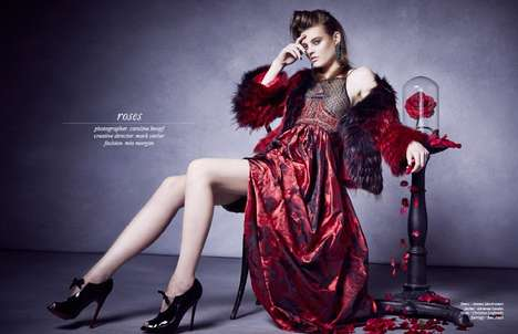 Rose-Inspired Photoshoots - The Schon Magazine January 2014 Online Editorial Stars Montana Cox