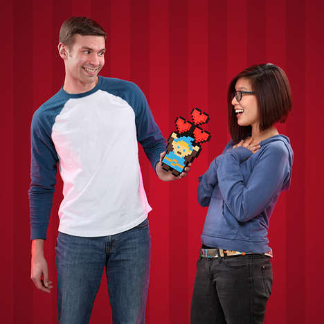 Retro Pixelated Gamer Bouquets - The 8-Bit Hero Heart Bouquet Lets You Power Up Your Love Life