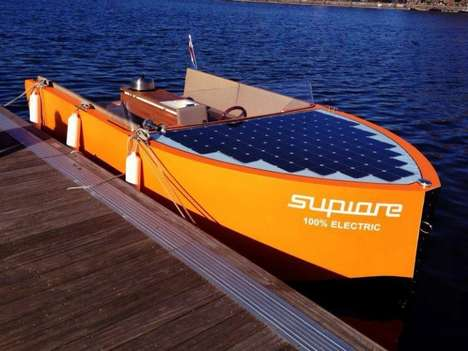 Wooden Solar Ships - Uno from Supiore Recharges Its Battery While You Sunbathe