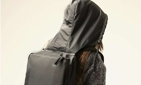 Head-Covering Rucksacks - This Hooded Backpack Keeps Your Noggin Protected on Your Trek to School