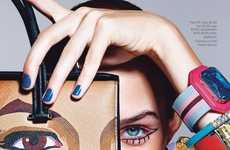 Expressive Accessory Editorials - This Josephine Skriver Harper's Bazaar Feature Embodies Glamour