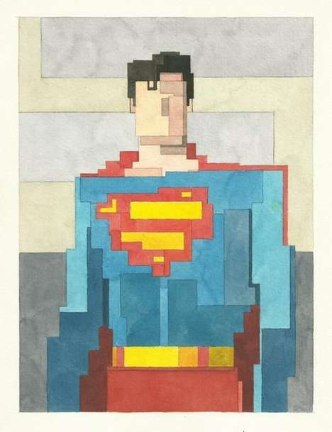 Pop Culture Pixelated Paintings - Adam Lister Gets 8-bit With Popular Franchises
