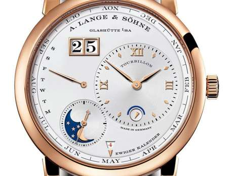 Gold Calendar-Bearing Timepieces - The 1 Tourbillon Perpetual Calendar Watch is Pretty in Pink Gold