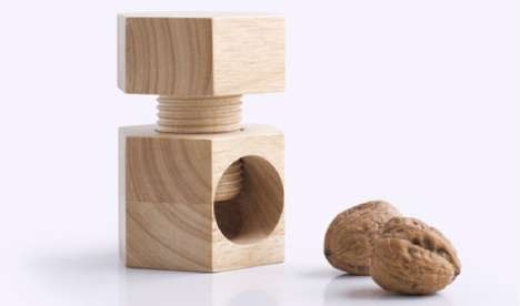Vice-Like Lumber Shellers - Industrial Facility Nutcracker is a Whimsical Workbench-Inspired Utensil