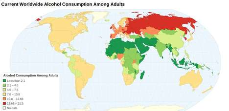 Global Alcohol Consumption Stats - These Charts Show Where and How Much the World is Drinking