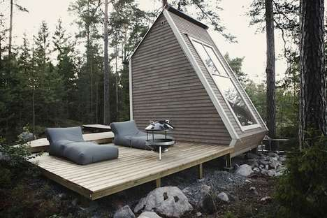 Minimalist Micro-Cabins - The Nindo Micro-Cabin Makes a Great Shelter in the Woods