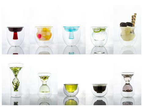 Double-Walled Cocktail Glasses - The Lil Wai Glasses by Studio KDSZ is Inspired by Chinese Pottery