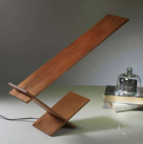 Dual Cantilevered Lighting - The K-Blade Lamp by Riva 1920 is Minimalist and Sculptural