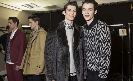 Poppy Polka Dot Fashions - The Kris Van Assche Fall 2014 Collection Ready to Hit the Town