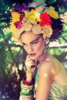 16 Fantastic Floral Headdress Styles - From DIY Flower Power Headbands to Layered Fabric Scrap Clips