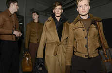 Sophisticated Safari Fashion - This Berluti Fall Collection Highlights Chic Camel Apparel