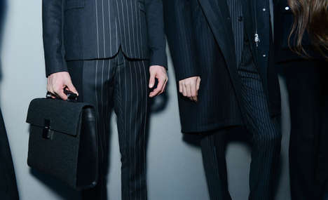 Layered Pattern Menswear Fashions - The Dior Homme Fall 2014 Collection Creates Layers Patterns