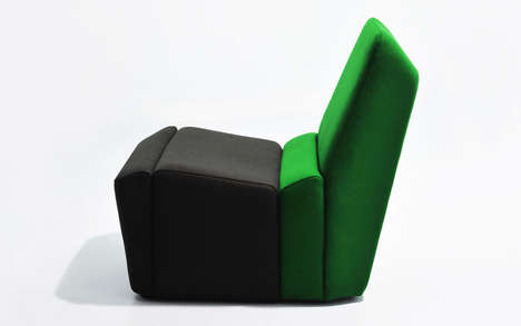 Sliced Seating Systems - The Rock Chair Makes a Great Lone Armchair That Can be Combined with Others