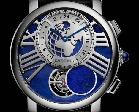 Mystic Moon Phase Watches - The Rotonde de Cartier Earth Moon Displays the Phase Of the Moon