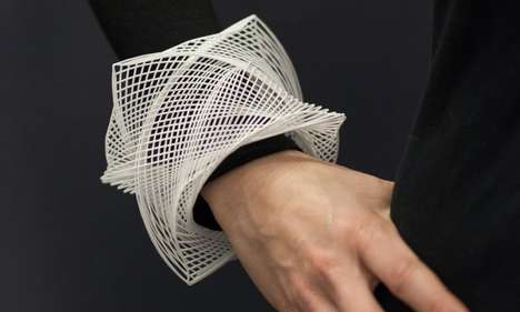 Futurized Old-Fashioned Accessories - Guilloche Cuffs Unite 1600s Style with Digital Production
